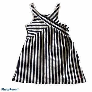 Nautica Striped Cotton Dress Navy/White 2T